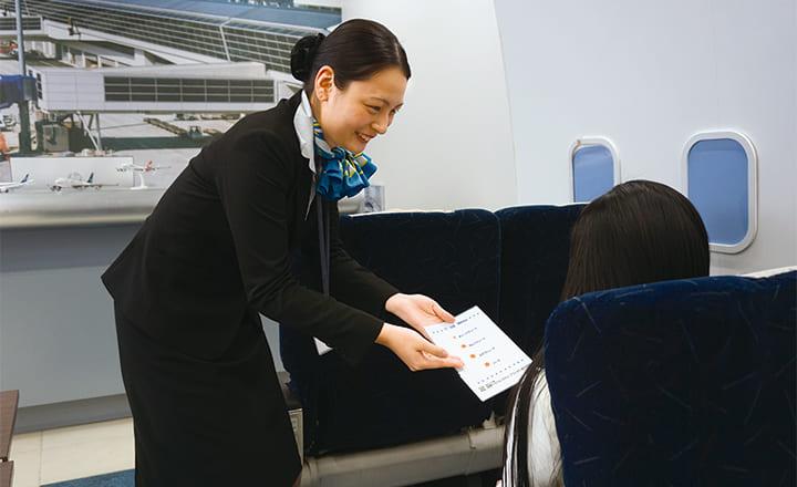 機内サービス実技演習