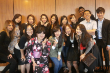 留学生と一緒にレベル別の授業